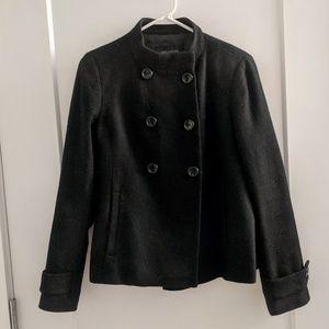 Ann Taylor Swing Black Wool Short Jacket